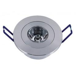Spot LED 1x1W Rotund Mobil Argintiu 220V