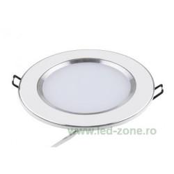 Spot LED 3W Rotund Mat Alb - Argintiu