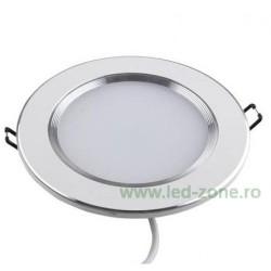 Spot LED 5W Rotund Mat Alb - Argintiu