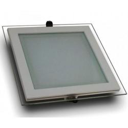 Spot LED 18W Patrat Mat Sticla