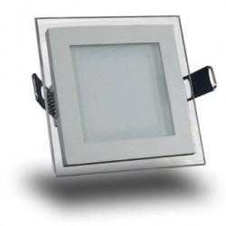 Spot LED 15W Patrat Mat Sticla