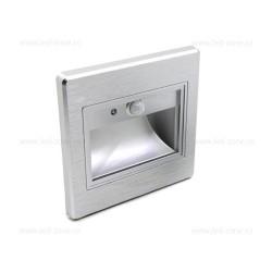 Spot LED 1W Patrat Argintiu Trepte Senzor