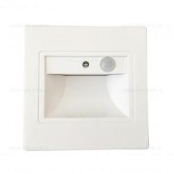 Spot LED 1W Patrat Alb Trepte Senzor