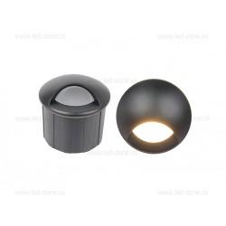 Spot LED Trepte 3W 220V Cilindric Negru IP65