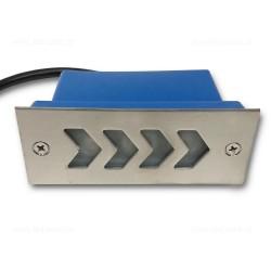 Spot LED Trepte 3x1W 220V Inox Sageti LZ6008