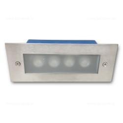 Spot LED Trepte 4x1W 220V Inox Mat LZ6009