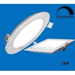 Spot LED 12W Slim Patrat Alb Dimabil