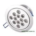 Spot LED 12x1W Rotund Mobil Argintiu 220V