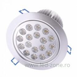 Spot LED 18x1W Rotund Mobil Argintiu 220V