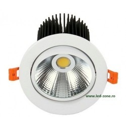 Spot LED 20W COB Oglinda Rotund Mobil Alb