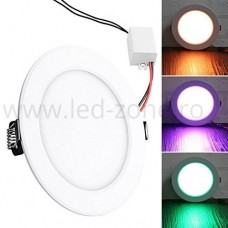 Spot LED 10W Slim Alb RGB + White Premium