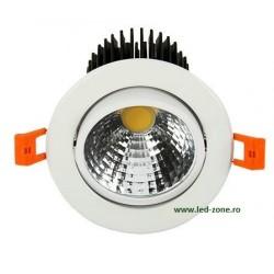 Spot LED 5W COB Oglinda Rotund Mobil Alb