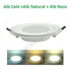 Spot LED 6W Rotund Mat Sticla 3 Functii