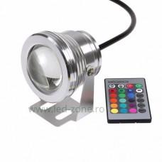 Spot LED Exterior 10W Rotund RGB Lupa 12V