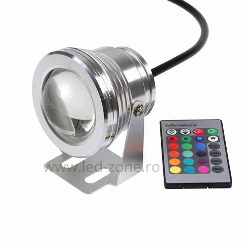 spot led exterior 10w rotund rgb lupa 12v led zone magazin online. Black Bedroom Furniture Sets. Home Design Ideas