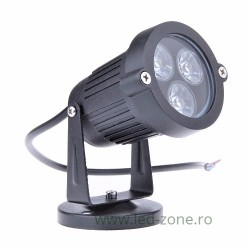 Spot LED Exterior 3x1W Rotund 220V