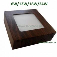 Spot LED 6W Patrat Aplicat Wenge