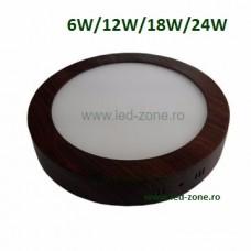 Spot LED 6W Rotund Aplicat Wenge