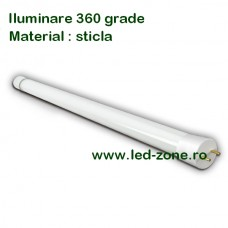 Tub LED T8 Mat 60cm 9W 360 grade Sticla