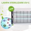 Lampa Sterilizare 20W cu 2xTUB T8 UV-C si Intrerupator