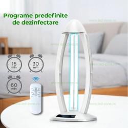 Lampa Sterilizare Germicida UV-C cu Ozonificare 38W