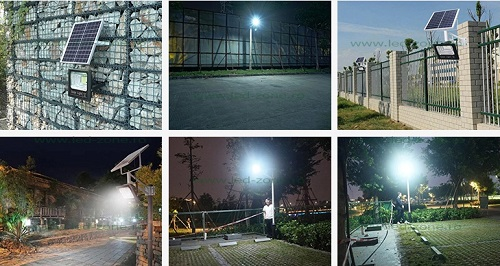 Proiector LED 100W cu Panou Solar si Telecomanda - LED Zone - Magazin Online